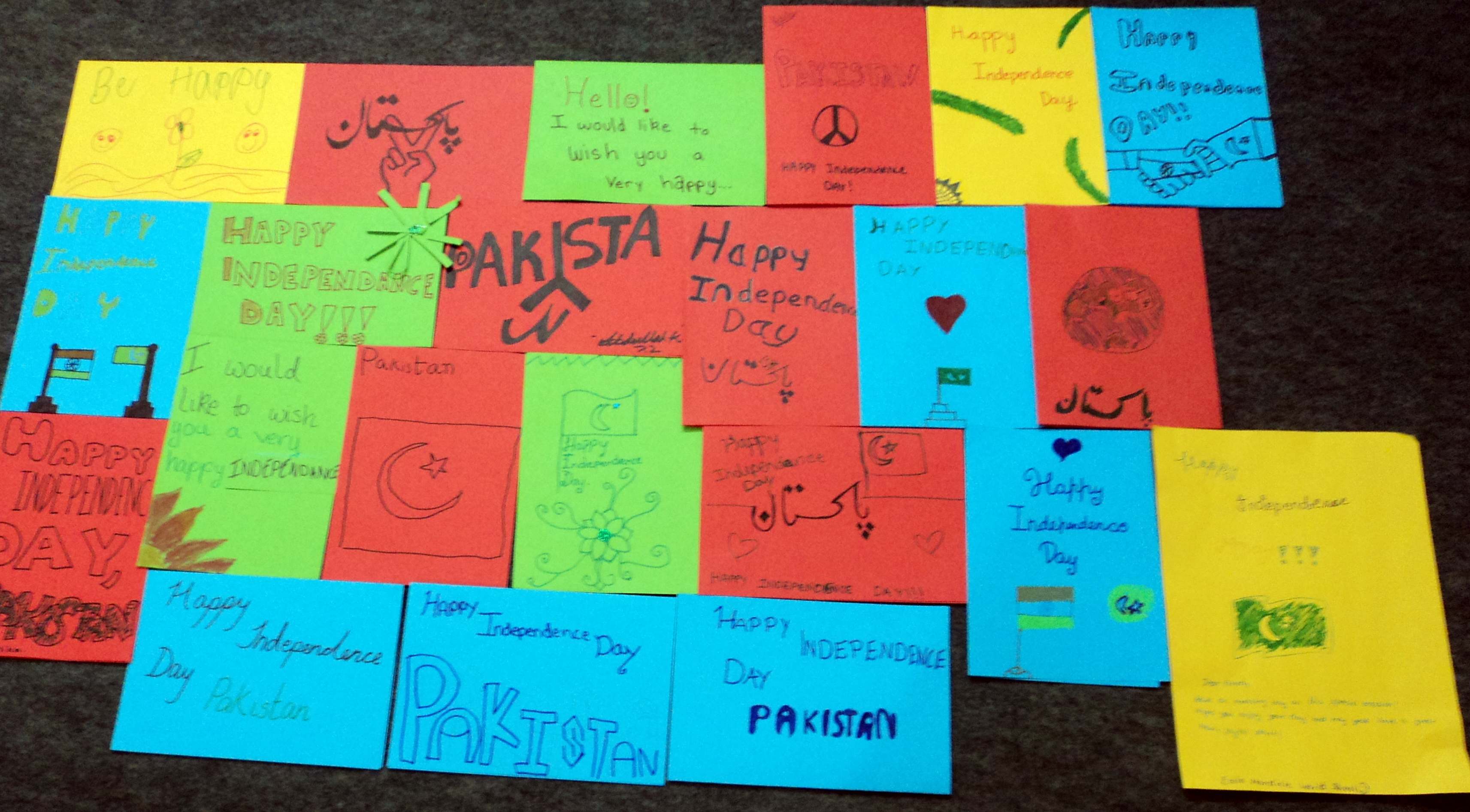 Greeting card exchange between schools aaghaz e dosti ecole mondiale world school mumbai initiated a beautiful step towards friendship with having their 7th grade students to make cards for pakistanis wishing kristyandbryce Gallery
